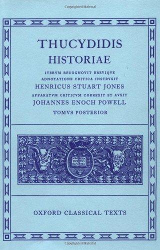 Stuart-Jones, H: Thucydides Historiae Vol. II: Books V-VIII: Volume II: Books V-VIII (Oxford Classical Texts)