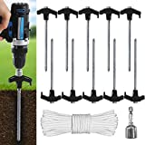 ABCCANOPY Ground Anchor Screw Kit, Drillable Garden Shed Stakes, Ideal for...