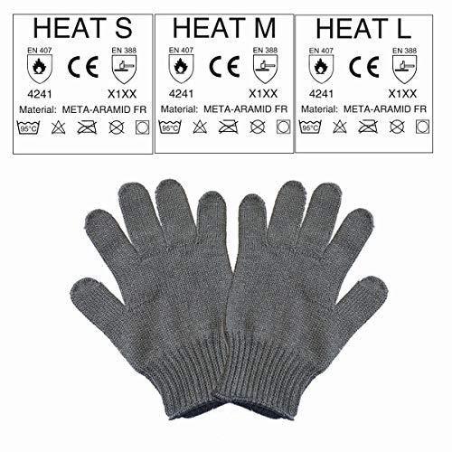 EASY-HOBBY Gants de Protection Thermique pour Barbecue et poêle en Fibres aramide – jusqu'à 250 °C Größe L
