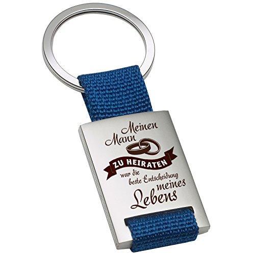 Sleutelhanger - mijn man te huwelijken: koppels hangers voor de sleutelhanger zelf maken met persoonlijke gravure/gepersonaliseerd met romantische spreuk