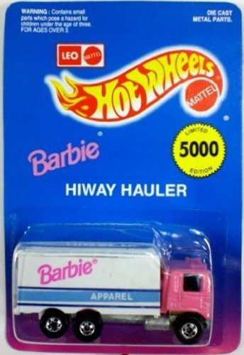 Hotwheels Pink Barbie Apparel Hiway Hauler #1174- Limited Edition of 5000 Made in India by Leo. Rare 1995 Hot Wheel Highway Hauler Truck Collectable.