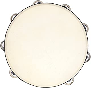 """Andoer 10"""" Hand Held Tambourine Drum Bell Birch Metal Jingles Percussion Musical Educational Toy Instrument for KTV Party Kids Games"""