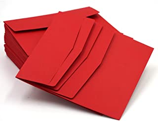 GYHS 10pcs Red 195 * 135mm DIY Paper Business Envelope Gift Card Envelopes For Wedding Birthday Party Invitation Decoratio...