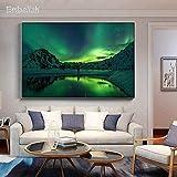 KWzEQ Leinwanddrucke Aurora Landschaft Wanddekoration für