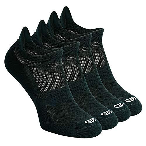 LIUFS Calcetines Deportivos para Hombres y Mujeres Calcetines de Baloncesto Profesionales de Corte bajo de Primavera Calcetines de Entrenamiento físico Maratón para Correr [4 Pares]