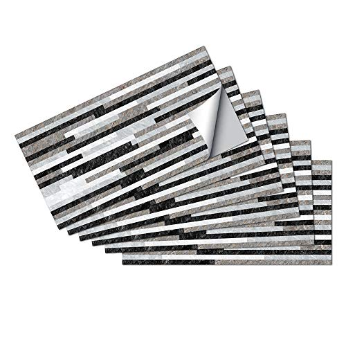 Azulejos Adhesivos Gris Perla NegroVinilosCocinaAzulejosAntisalpicadurasVinilosBañoAzulejosImpermeableVinilosdeparedDecorativosPinturaparaAzulejosAdhesivodePared 15x30cm/6 pcs
