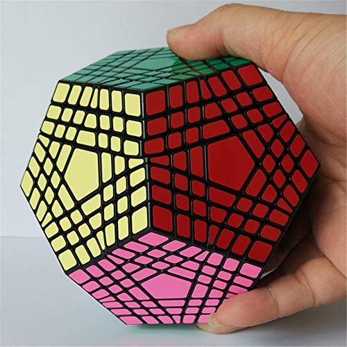 Ysss Séptimo Pedido 5 Cubos Séptimo Pedido Dodecaedro en Forma de Cubo de Juguete,Negro