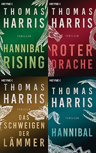 Hannibal Lecter Reihe Band 1-4 plus 1 exklusives Postkartenset