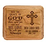 Personalized 1st Holy Communion Keepsake Box May the grace of God shine upon you Custom Sacraments Baptism gifts By LifeSong Milestones (May the Grace)