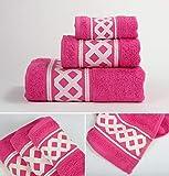 Energy Colors Textil - Hogar - Cenefa Siria - Juego de Toalla 3 Piezas 100%...