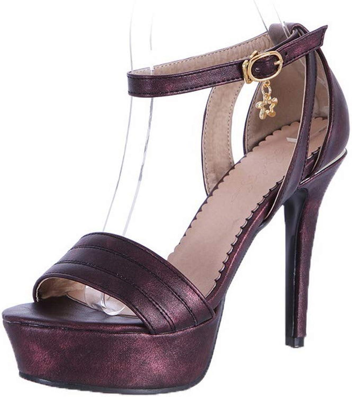 AmoonyFashion Women's Pu Solid Buckle Open-Toe High-Heels Sandals, BUTLT006366