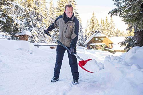 Freund 2030519 Kunststoff-Schneeschieber 53 cm mit Aluminiumkante und Aluminiumstiel 130 cm D-Griff - 2