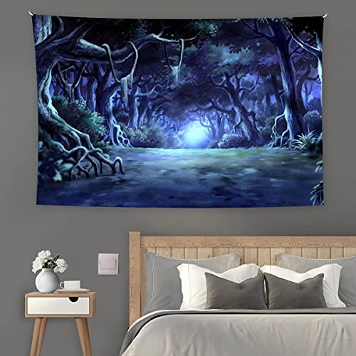 KHKJ Tapiz de Seta psicodélico Tapiz de Cielo Estrellado Tapiz de Pared Trippy Tapiz de Planta de fantasía Colgante de Pared para decoración del hogar A9 200x150cm