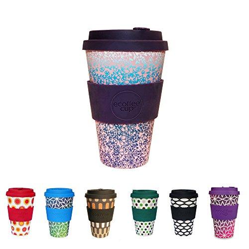 BIOZOYG Coffee Cup rispettosa dell'ambiente 400ml Miscoso Secondo I Bicchiere di bambù I Coffee to Go Tazza con Coperchio in Silicone e Manica in Silicone Lavabile in lavastoviglie