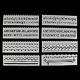 ECMQS 8pcs/Set–Des gamins–plástico–Modelo de Dibujo–Reglamento Plantillas–DIY la Pintura DIY Faire–Escolar Herramientas Artesanía, Tela, Blanco, Vague