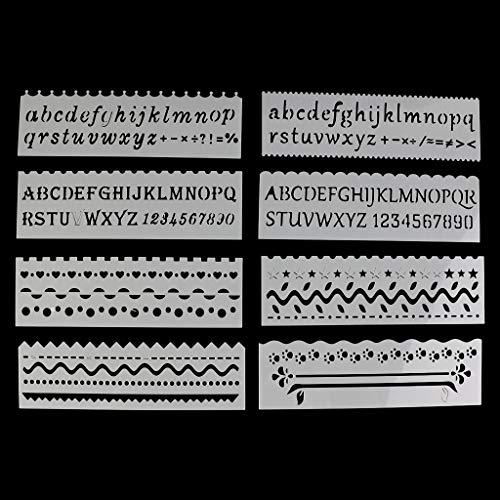8 Stück Journal Zubehör Schablonen Malvorlagen Für Kinder Schablonen Set Journal Supplies, Scrapbook Zubehör, Wiederverwendbar