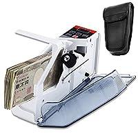 Elikliv お札カウンタ マネーカウンター 自動紙幣計数機 ハンディカウンター 小型 携帯型 キャリングケース付き アダプター&電池両対応 日本語説明書付き