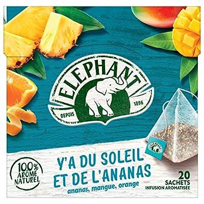 Elephant, Infusion aromatisée Ananas Mangue Orange, Arôme 100% naturel, 20 Sachets parent