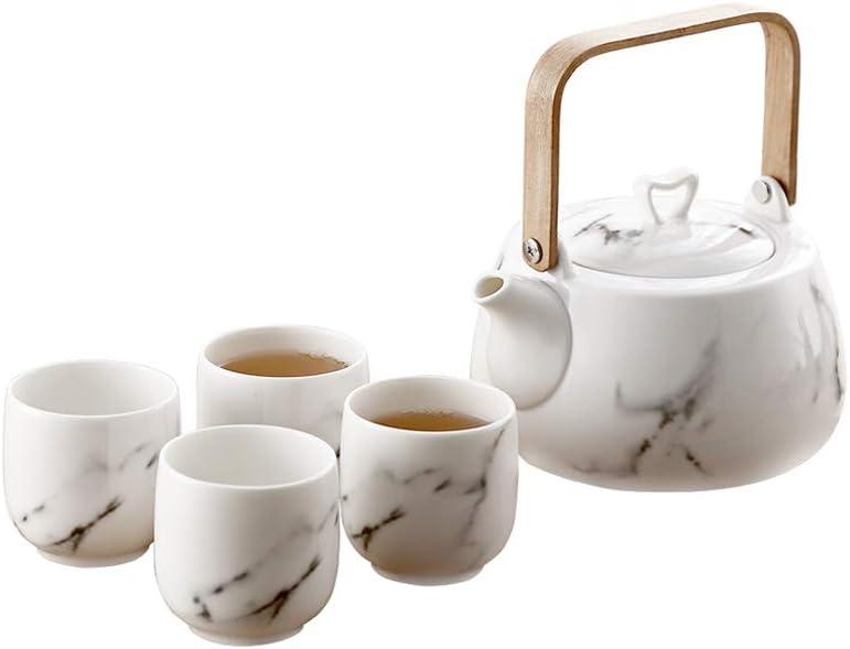 Easy-to-use LIONWEI LIONWELI Japanese Classic Marble with Set Ceramic Fl Superlatite Tea
