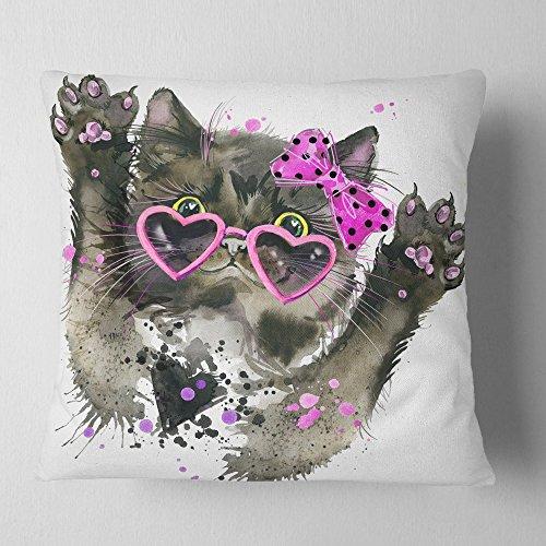 Design Art Throw Pillow, Polyester, x 18 in
