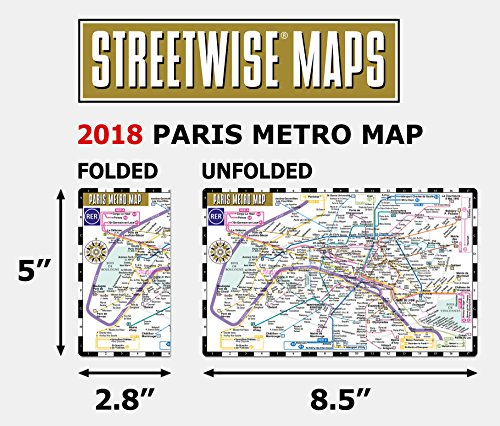 Streetwise Paris Metro Map - Laminated Metro Map of Paris, France (Michelin Streetwise Maps)