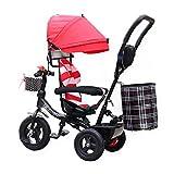 WYDM Bebé Bicicleta Triciclo Infantil 360 Grados rotación Carro Alto Rendimiento (Color : Red)