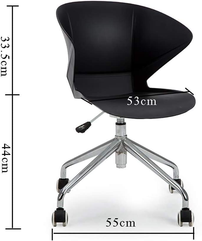 Chaise D'ordinateur, Rotation Nordique Minimaliste Moderne|Formation En Entreprise|Conférence|Accueil|Bureau 44cm|Chaise Chaise De Bureau 3 Couleurs (Couleur : Orange) Noir