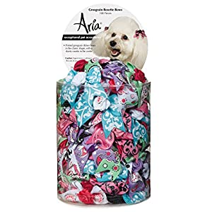 Aria Grosgrain Rosette 100 Piece Bows for Dogs