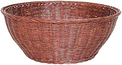 Home Living Museum/Craftsmanship Art Rattan Storage Basket Fruit Bowl Dried Fruit Plate Round Storage Basket Autumn Rattan...