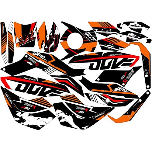 Motorcycle Street Bike Pegatinas Gráficos Calcomanías Kits for KTM Duke 125 Duke 200 Duke 390 2014 2015 2016 (Color : Silver)