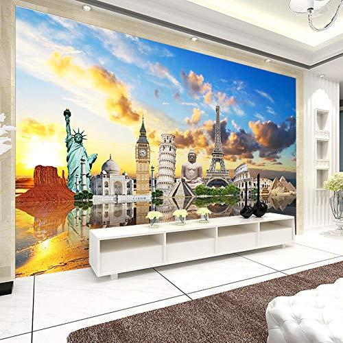 XLXBH zelfklevende wandfoto, 3D Affresco Di Buddha Wallppers van papier uit het fotobehang 3D voor de muur van kerk voor het hotel Del Salone 200x140 cm (LxA) 4 strisce - autoadesive
