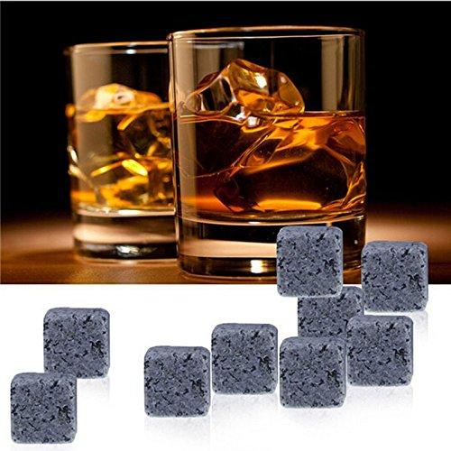 9pcs/set Whisky Rocas Piedras de whisky cerveza piedra Whisky hielo...