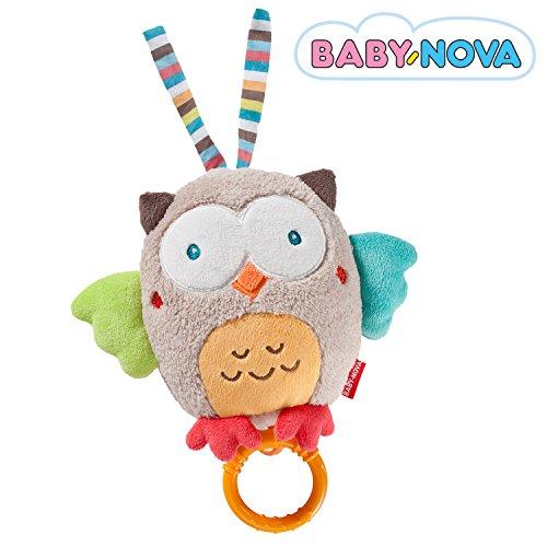 Baby-Nova Spieluhr Eule, Einschlafhilfe für Babys, Musikspieluhr Schlaf Kindlein Schlaf, Schlafhilfe zum Aufhängen – weitere Melodien & Motive verfügbar
