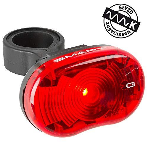 Smart Unisex– Erwachsene Star Batterierücklicht, schwarz/rot