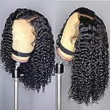 150% de densidad Coily Curls Afro Bouncy Kinky Curly Peluca de cabello humano 13x4 Brasileño frente de encaje Pelucas de cabello humano para mujeres negras, 22 pulgadas, 130%