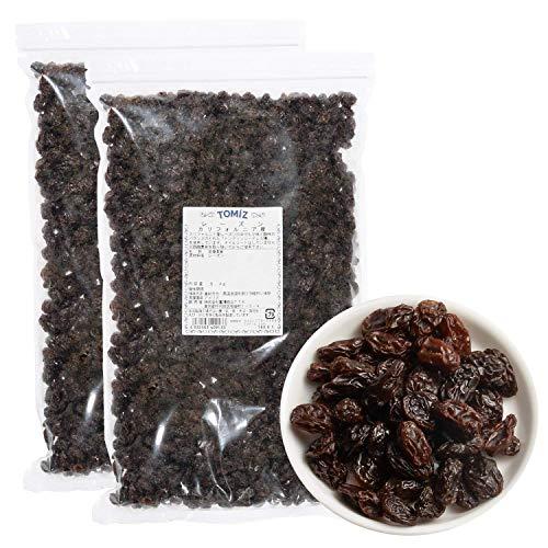 レーズン(カリフォルニア) / 1kg×2点セット TOMIZ(富澤商店) 無添加 ノンオイル 砂糖不使用 カリフォルニア産 保存に便利なチャック袋入 ドライフルーツ