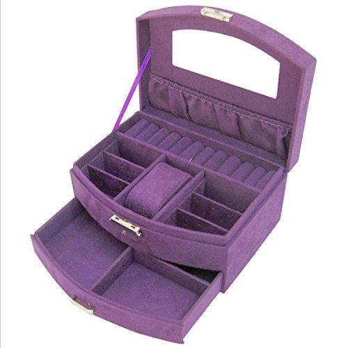 Extractor Caja De Joyas Caja De Terciopelo Sola Caja De Cosméticos De Regalo Regalo Regalo De Boda,Purple
