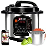 Geek Robocook Zeta8 8L Electric Pressure Cooker with Stainless Steel Pot, Black