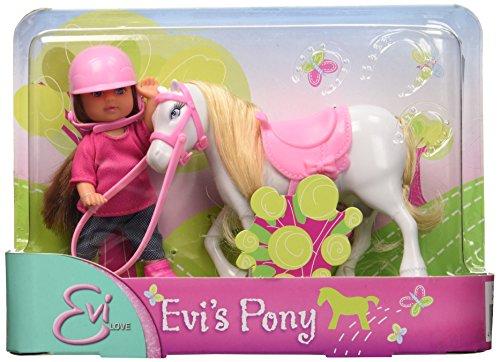 Simba - 105737464 - Evi Love - Poupée Enfant -Pony - 3 couleurs - Coloris Aléatoire