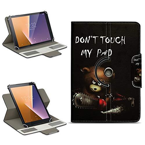 NAmobile Vodafone Smart Tab N8 Tasche Hülle Schutzhülle Tablet 360° Drehbar Hülle Cover, Farben:Motiv 2