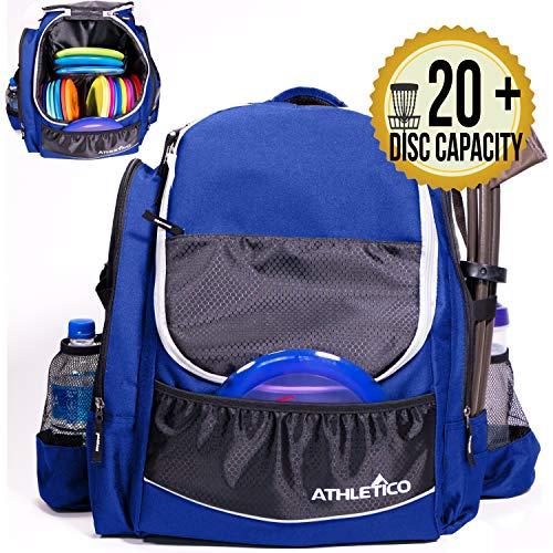 Athletico Power Shot Disc Golf-Rucksack, 20 + Disc-Kapazität, für Pro oder Anfänger, Unisex-Design, blau