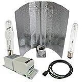Cultivalley 250W Grow-Set, Profi Pflanzenbeleuchtung, Bausatz mit NDL Natriumhochdruck-Leuchtmittel HPS für die Blüte & Halogen-Metalldampflampe MH Wuchslicht, Pflanzenlicht