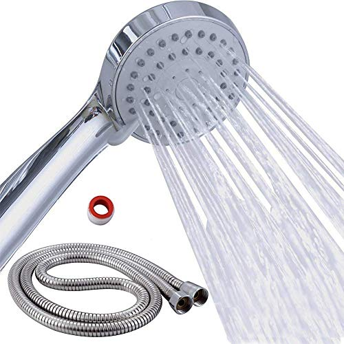 Power Shower Duschkopf 3 einstellbare Druck Modi Duschk/öpfe Regendusche Wasserdruck erh/öhen Duschkopf 3 Zubeh/örs/ätze Langlebiger Anti-Kalkstein Wassersparender Ionischer Hohem Druck Duschkopf