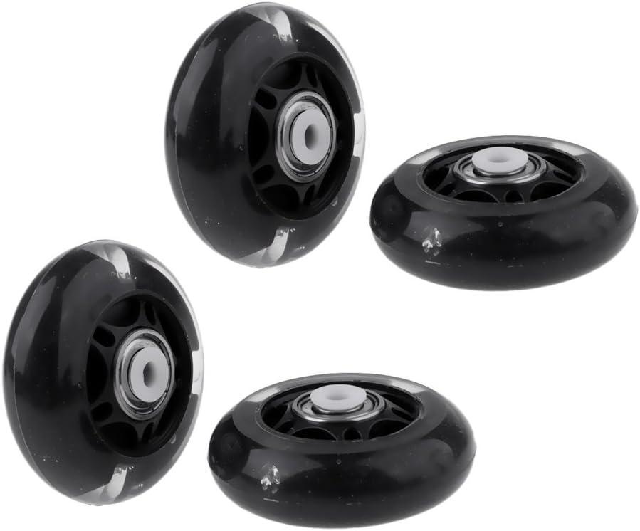 Baoblaze 4 Pcs New Outdoor Inline Roller Skates Skating Replacement PU Wheel 64mm Bearing Skateboard Accessories