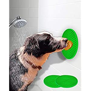 EAVPORT Dog Lick Pad, Peanut Butter Slow Feeder Lick Mat for Dogs with Suction Cups, Distraction Device for Pet Bathing, Grooming and Training