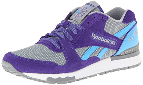 Reebok GL 6000 Klassischer Herrenschuh, Violett (Team Purple/Flat Grey/California Blue/White), 39 EU