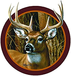 Enjoy It Wild Wings Whitetail Deer Head Car Sticker, Outdoor Rated Vinyl Sticker Decal