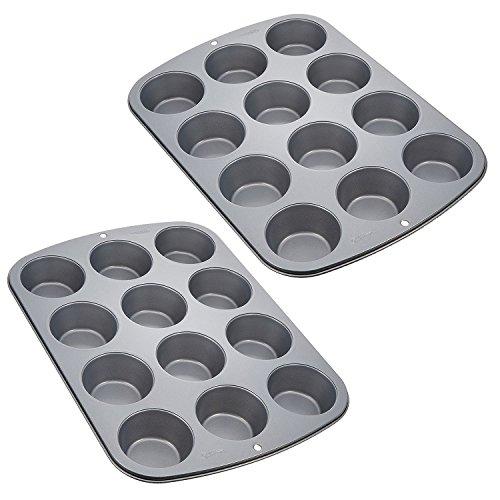 Wilton Recipe Right Nonstick 12-Cup Regular Muffin Pan (2, STANDARD)