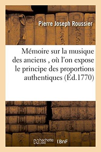 Mémoire sur la musique des ancie...
