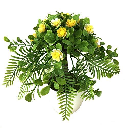 Cuttey Künstliche Balkonpflanzen, Künstlicher Blumentopf Klein, Grünpflanzen Künstlich, Unechte Pflanzen Dekoration Klein Wetterfest Künstliche Pflanzen, Für Drinnen Und Draußen, Haus, Büro Favorable